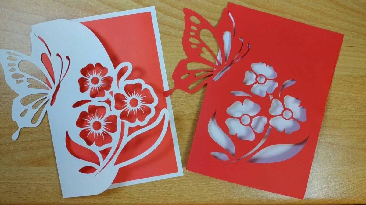 Ночи картинки, праздничные открытки 8 марта из бумаги