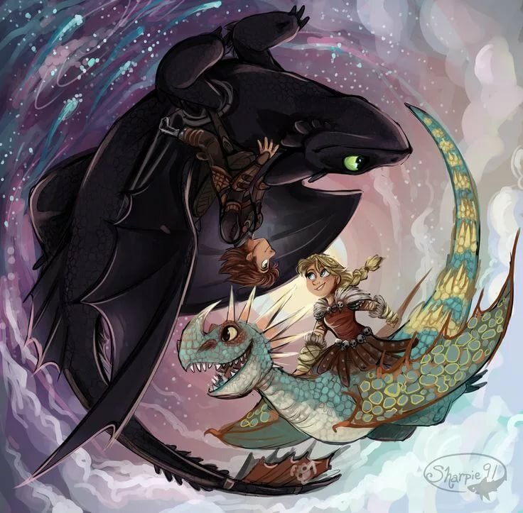 Как приручить дракона красивые картинки