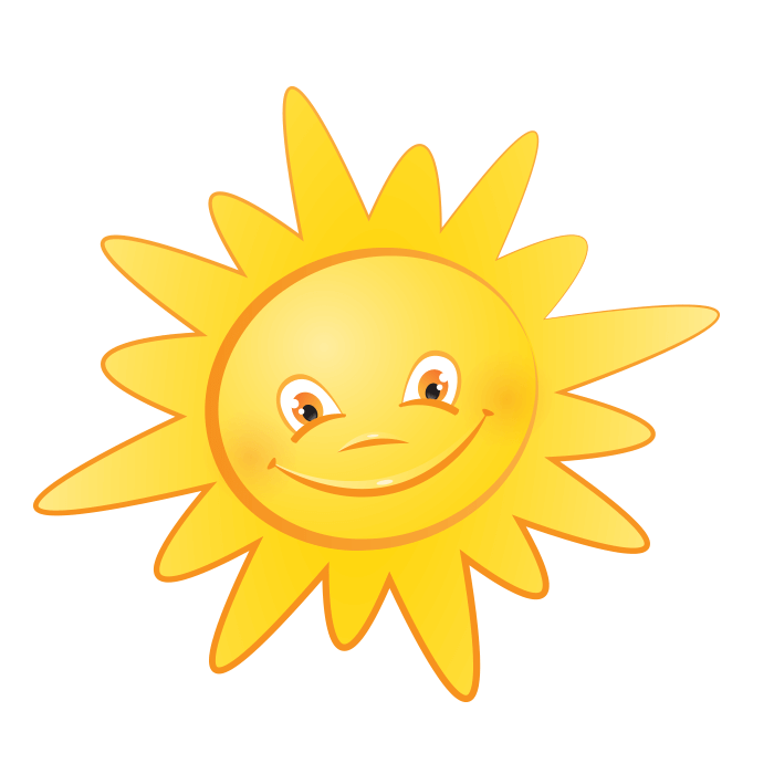 солнышко картинки с прозрачным фоном один самых
