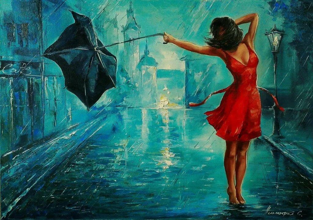 Музыка, картинки танец под дождем
