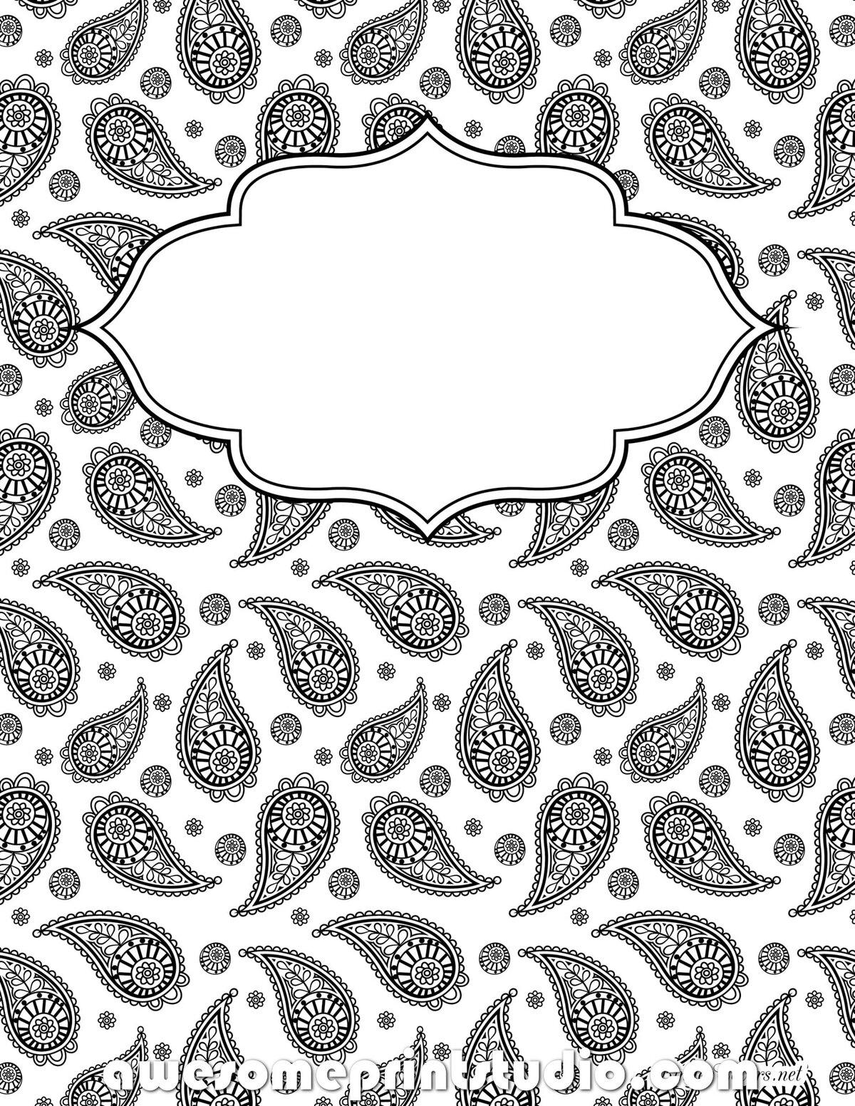рисунки для тетрадей на обложку черно белые моде сочетание