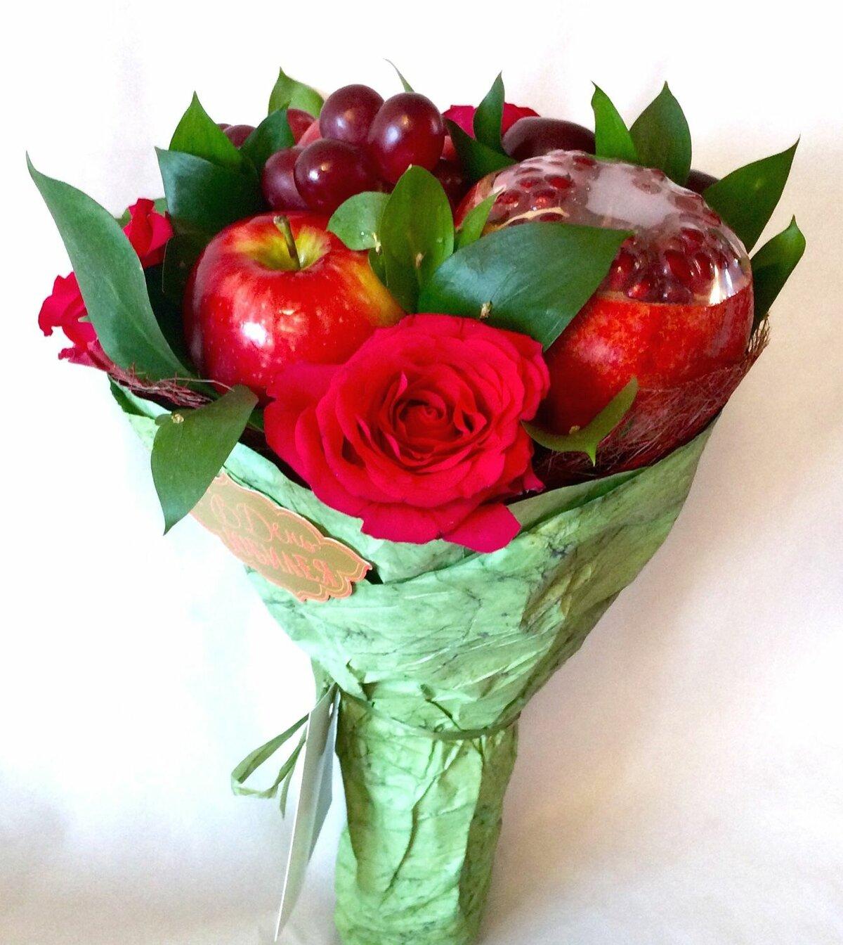 Из отходов от букет цветов и фруктов купить