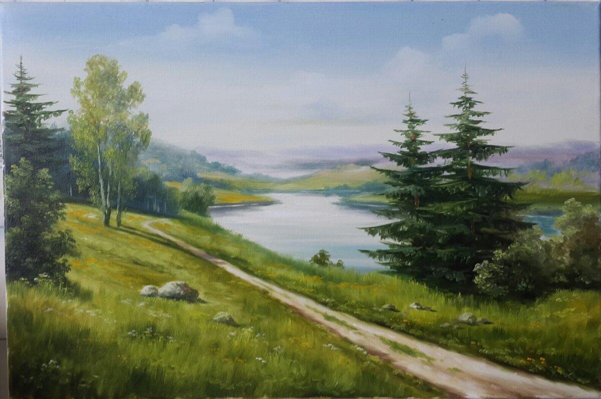 также пейзажи средней полосы россии рисунки каких-то необычных