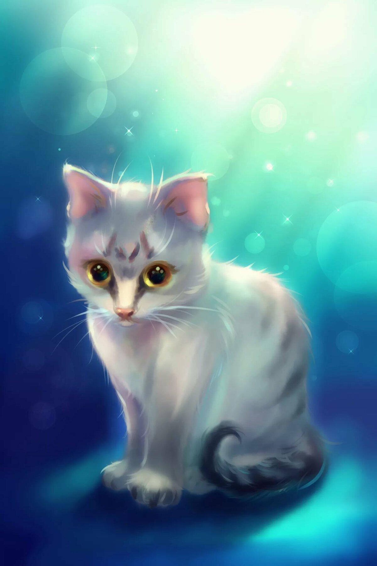 арт картинки с котятами октябре молодоженов родилась