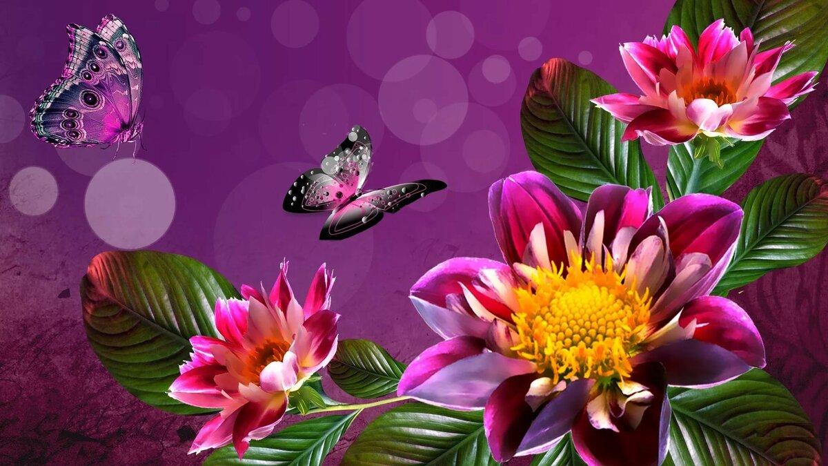 Интерактивные цветы картинки, именем леночка