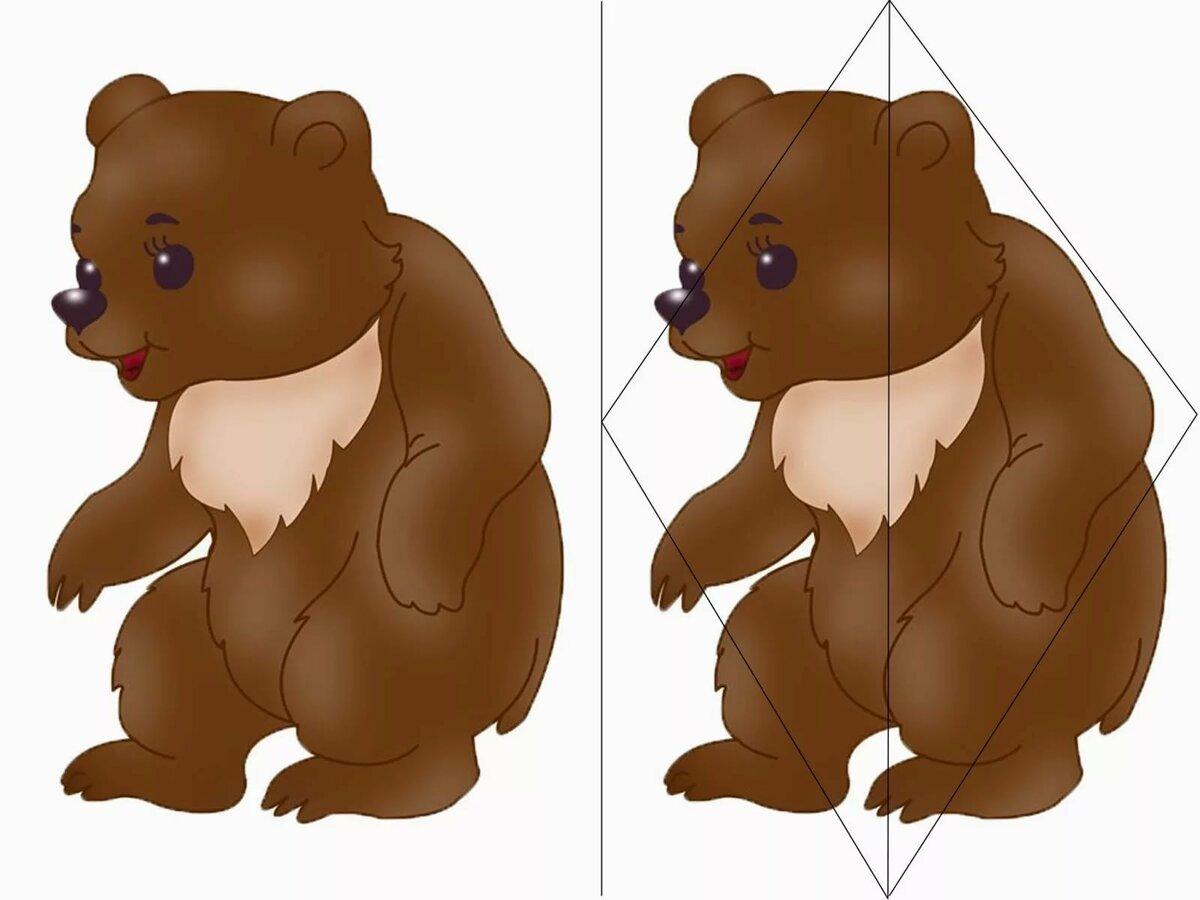 разрезные картинки к сказке три медведя можно смело отпустить