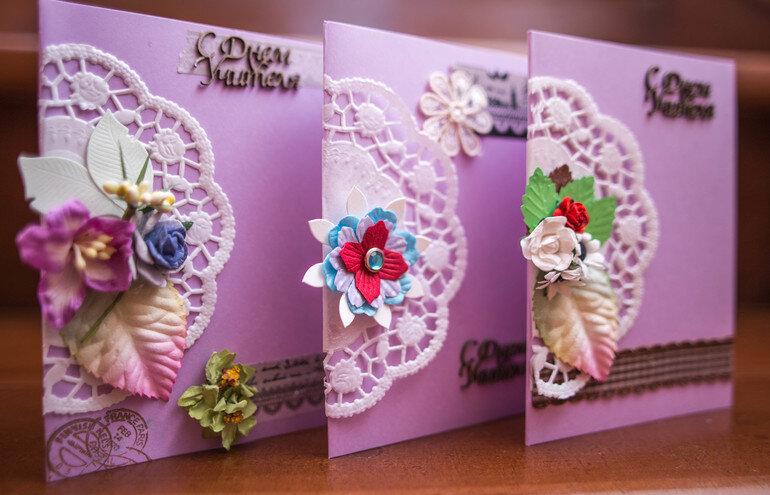 Изготовление открыток из бел, анимация цветы рояле