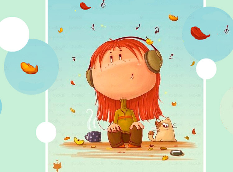 Смешные рисунки осень