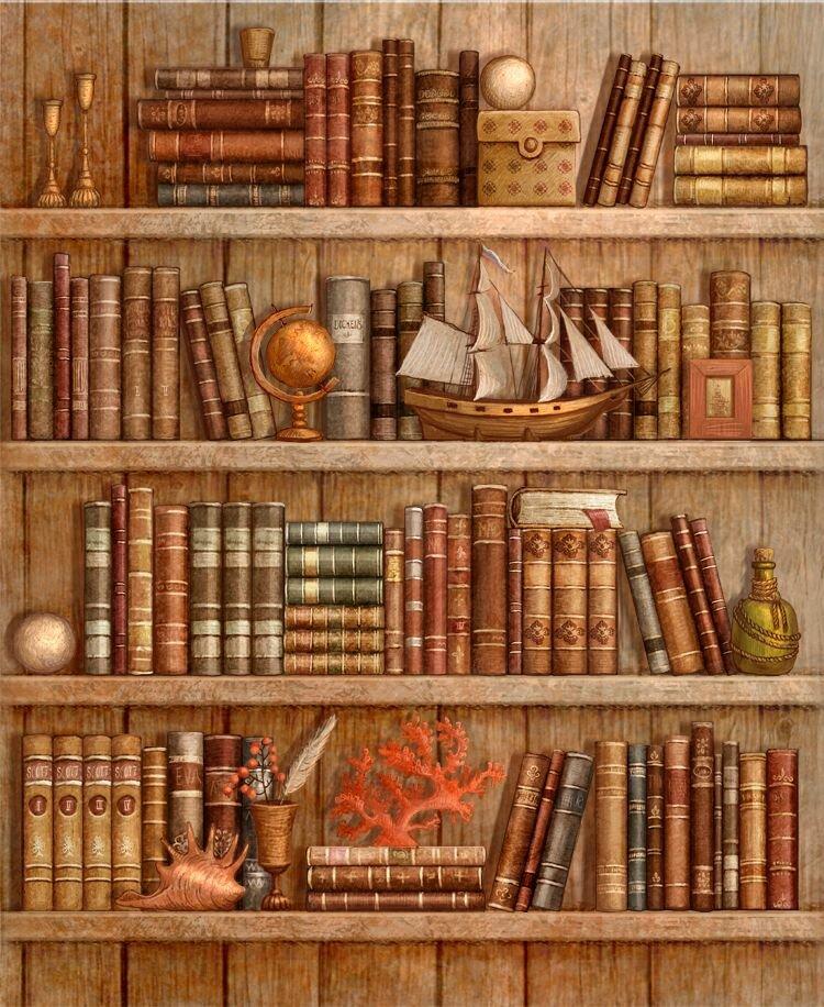 Книге на полке картинки