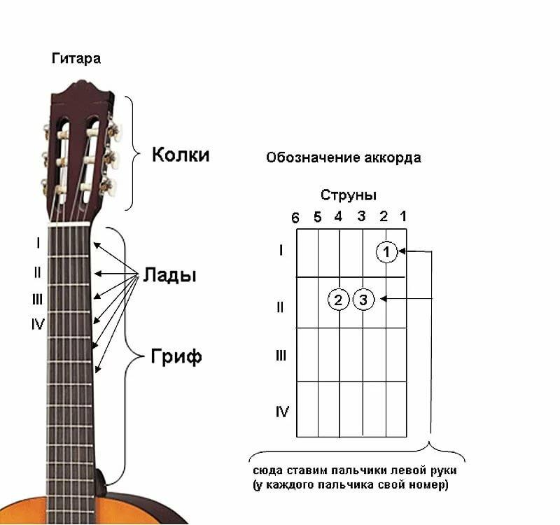 аккорды гитары картинки с руками как заставить раннего