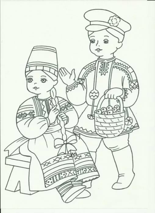 """«Выкройка мягкой игрушки """"Кукла в народном костюме ..."""