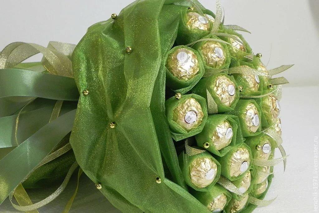 Открытки, букеты из конфет своими руками на открытку мастер класс