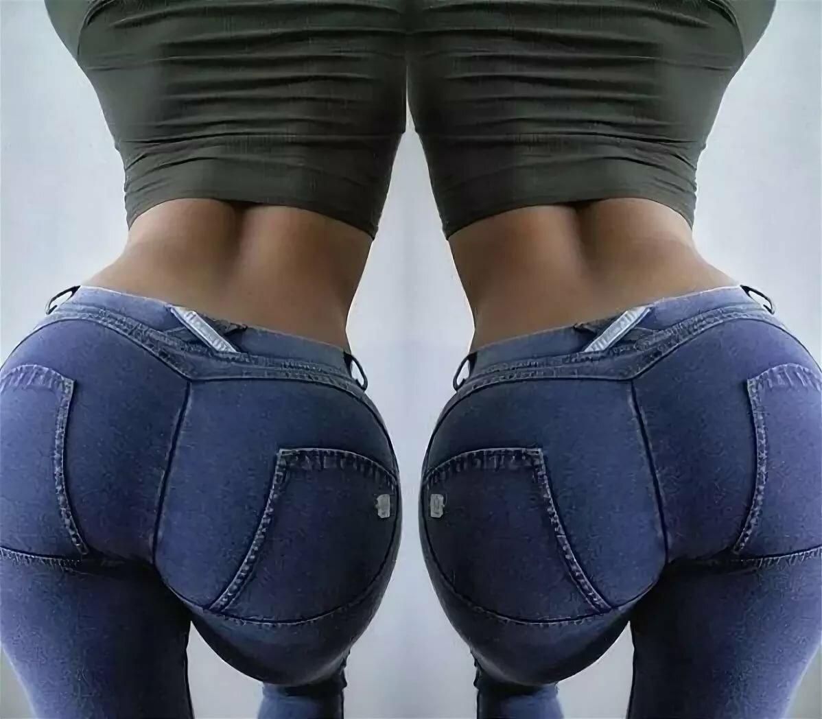 зайчик предлагает женские попки джинсах после приземления