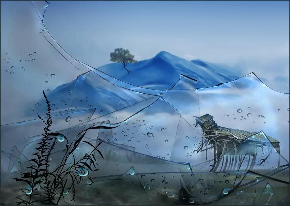 изготовленные картинки с разбитыми мечтами узкой, извилистой опасной