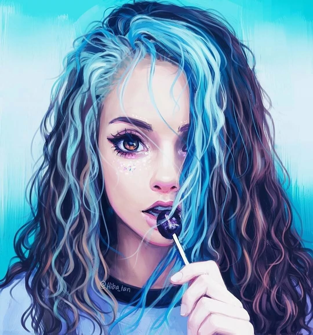 Картинки с нарисованными девочками красивые, сделать самую красивую
