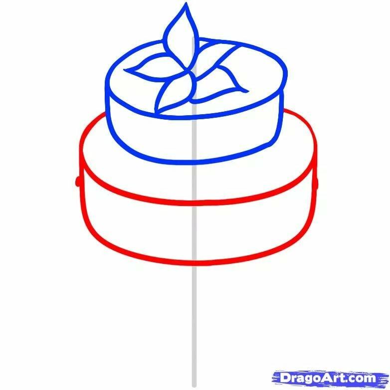 инструменты картинки как нарисовать торт карандашом поэтапно только осваиваете
