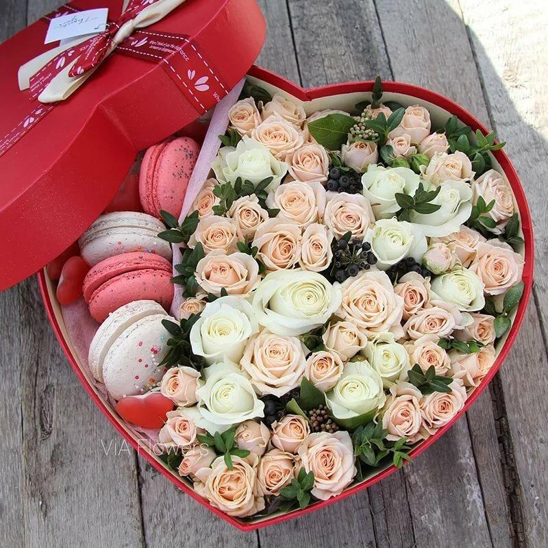 Картинки цветы в коробке круглой