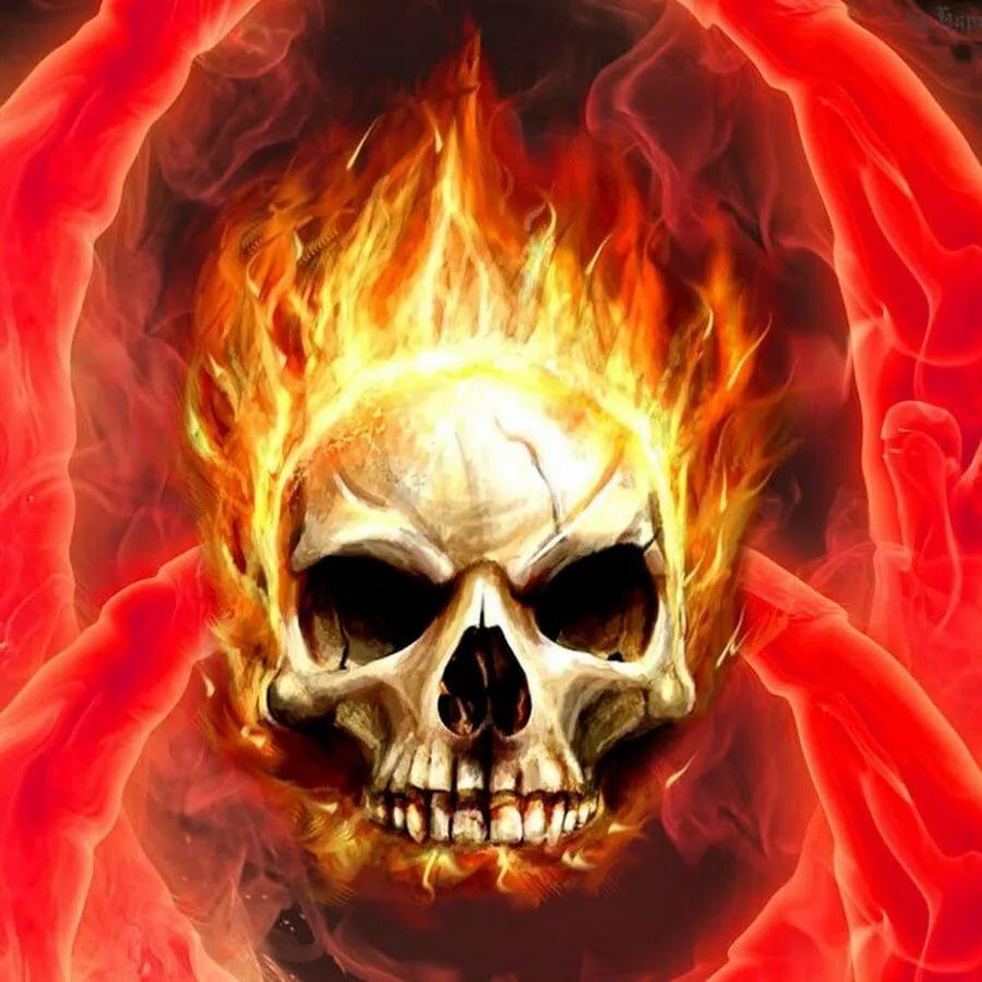 Для предприятия, картинки с черепом в огне