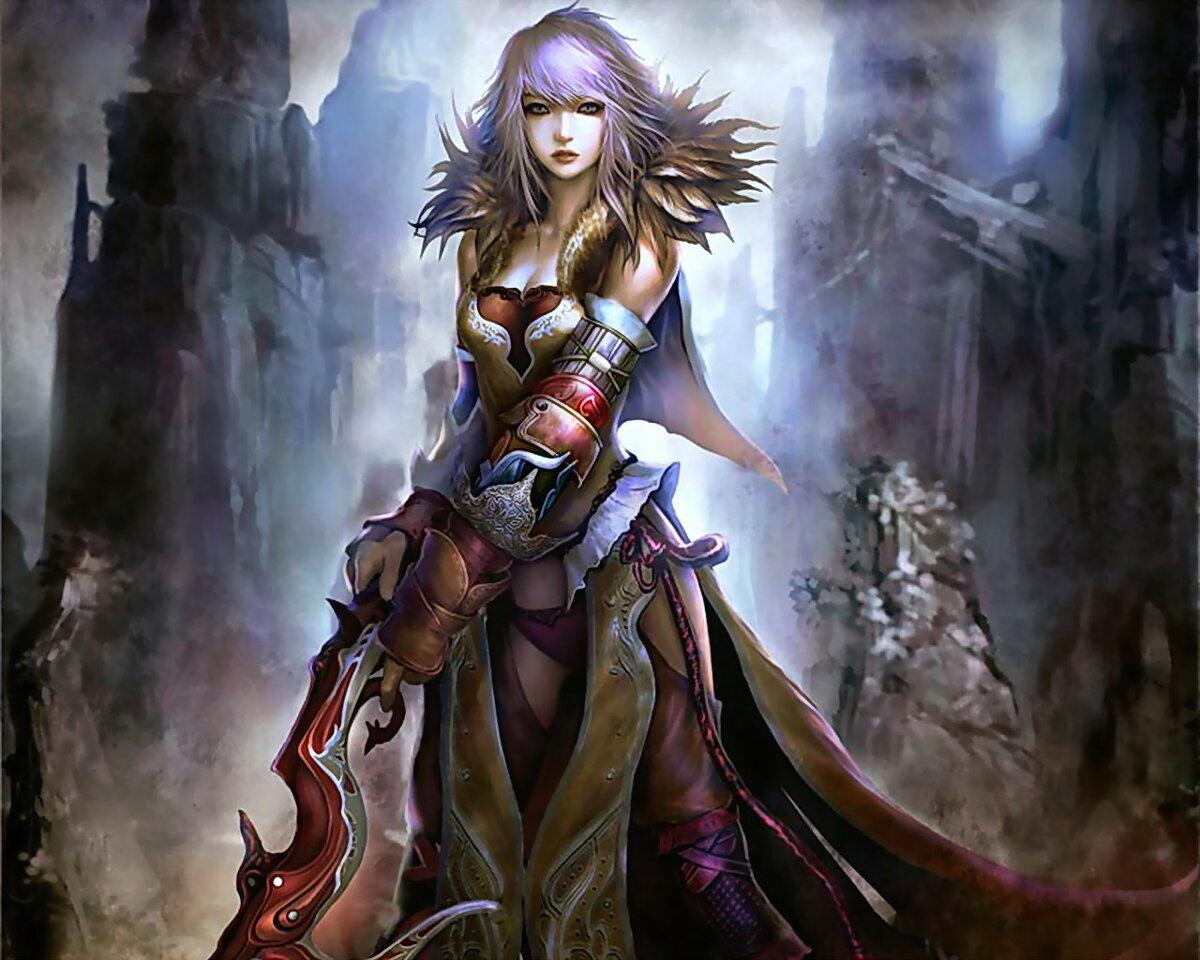 фото фэнтези девушки воины кончила