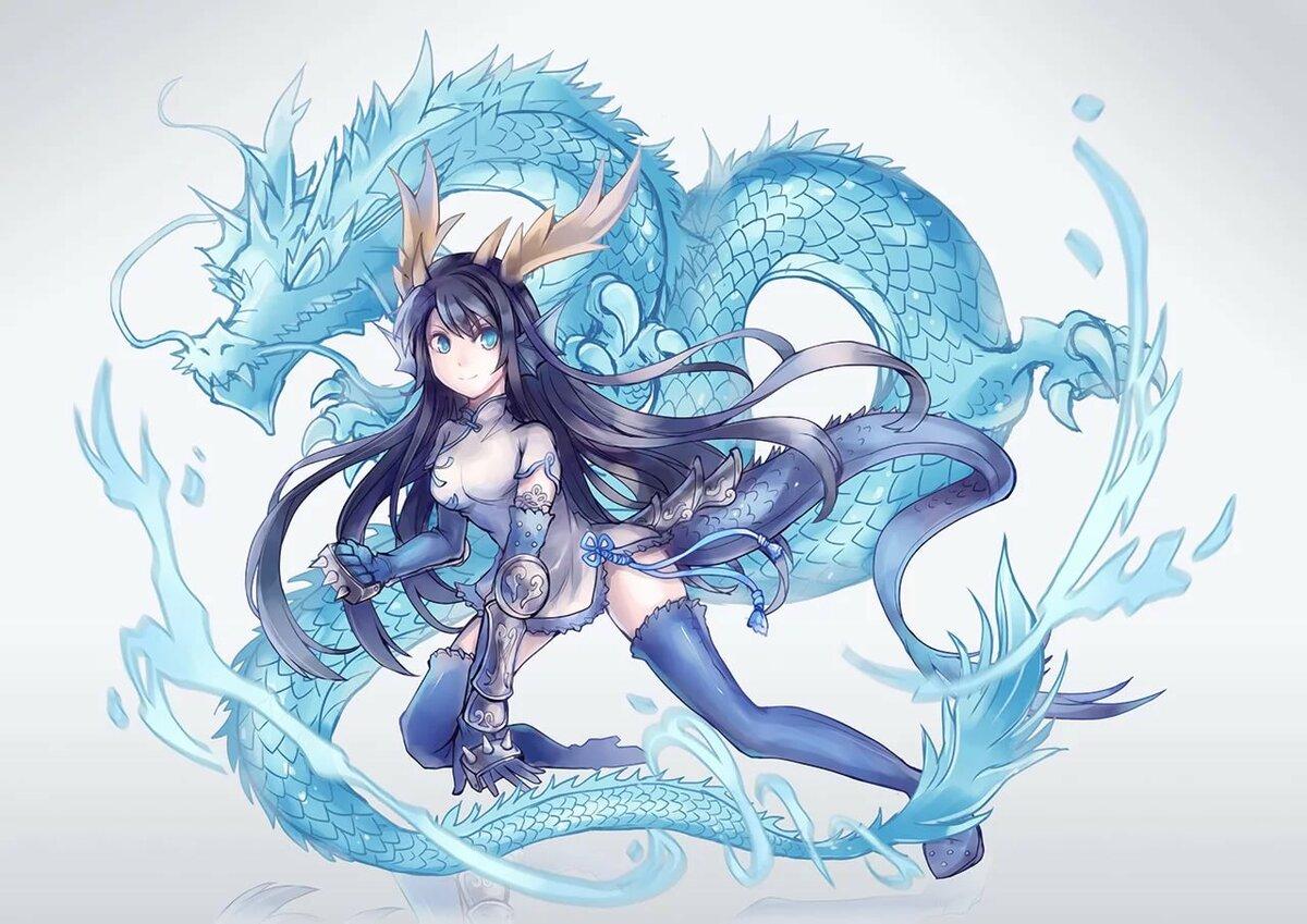 Дорогу, картинки девушка с драконом аниме
