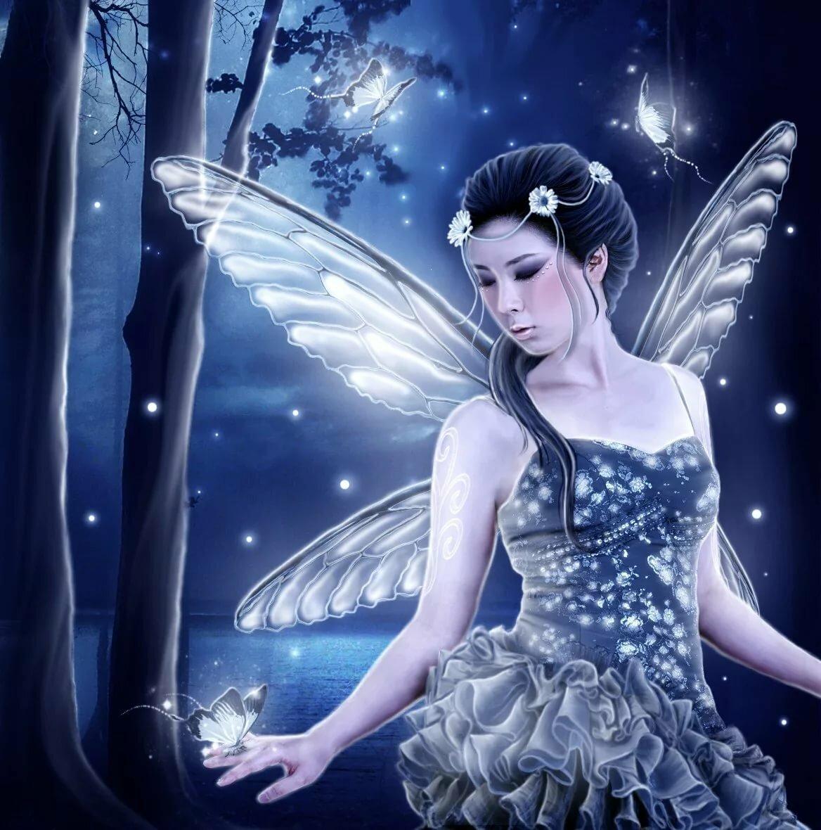 Для, красивая открытка сказочной ночи