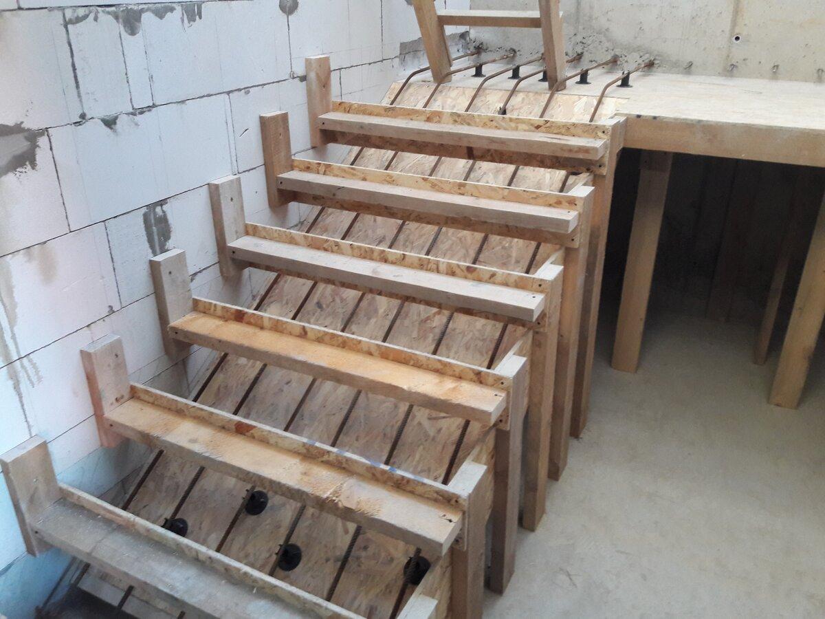 опалубка для монолитной лестницы