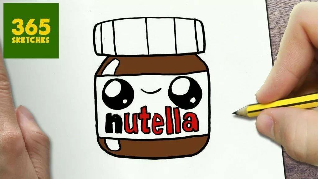 Рисунки для срисовки нутелла