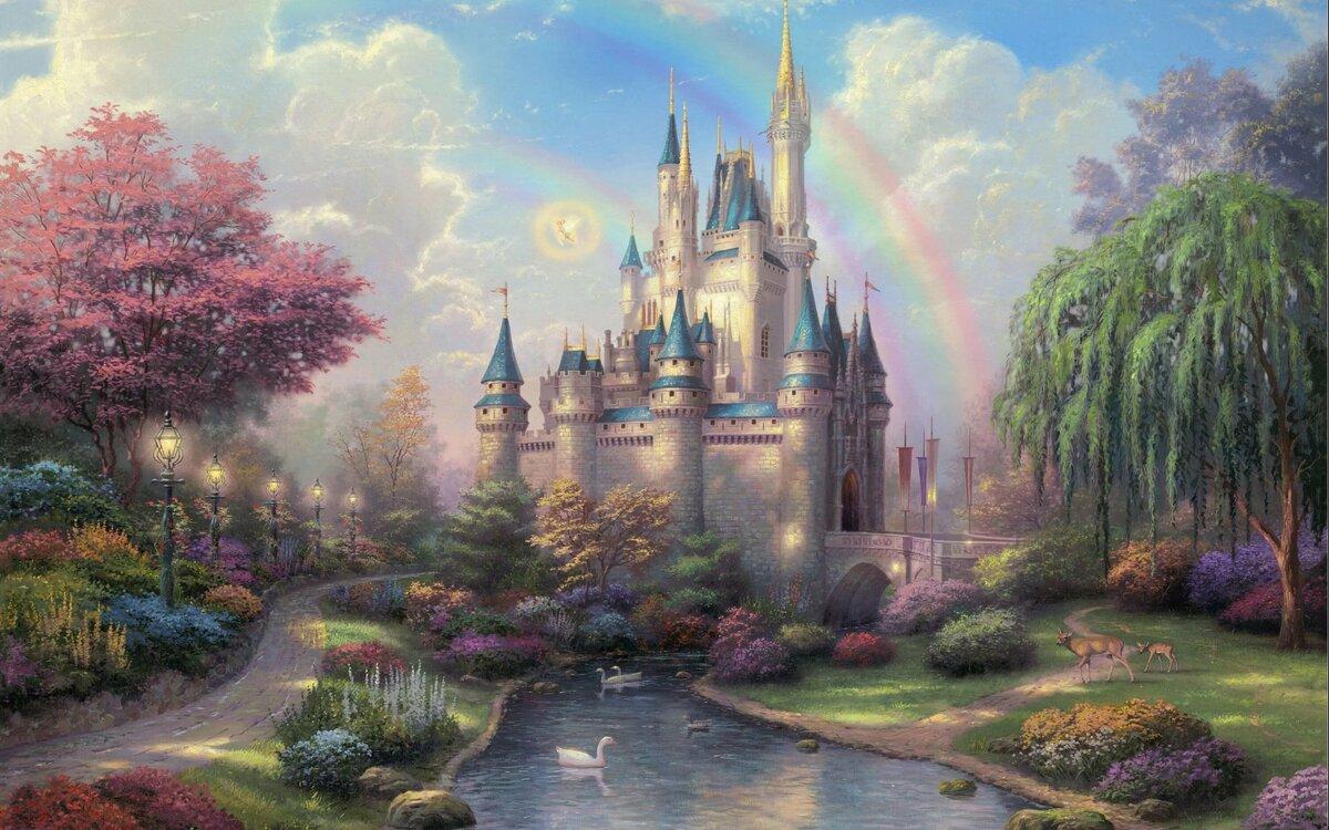 Искусству, сказочные картинки замков