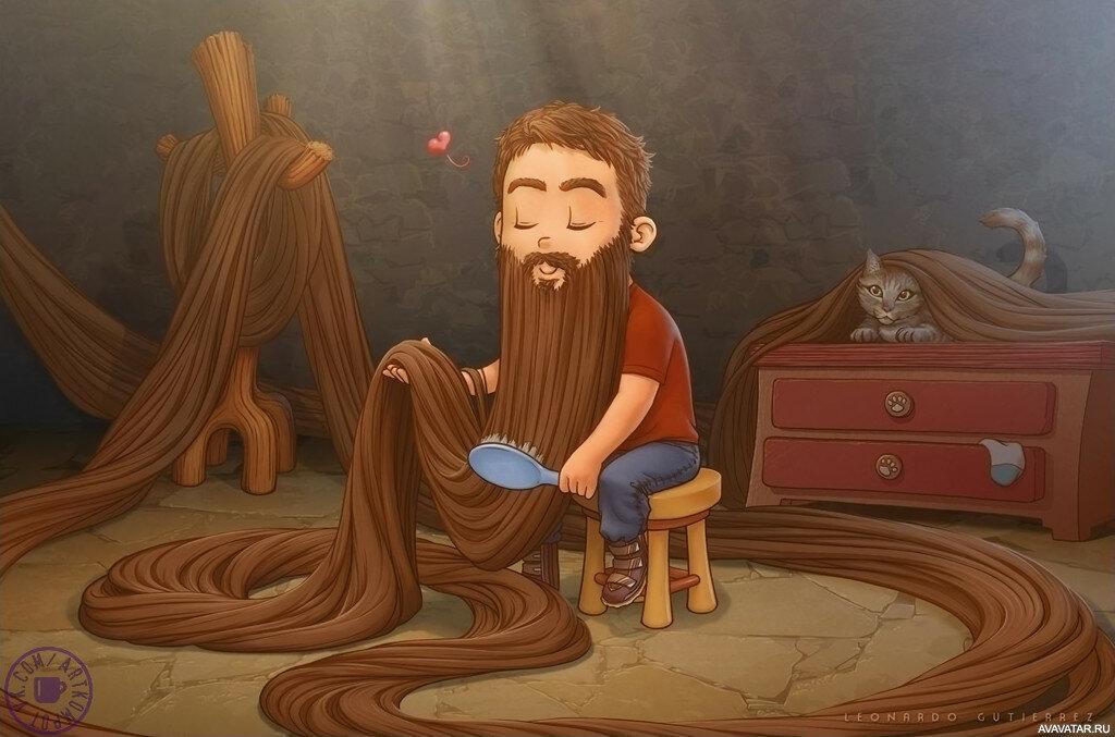 Мигающим эффектом, смешные картинки с длинными волосами