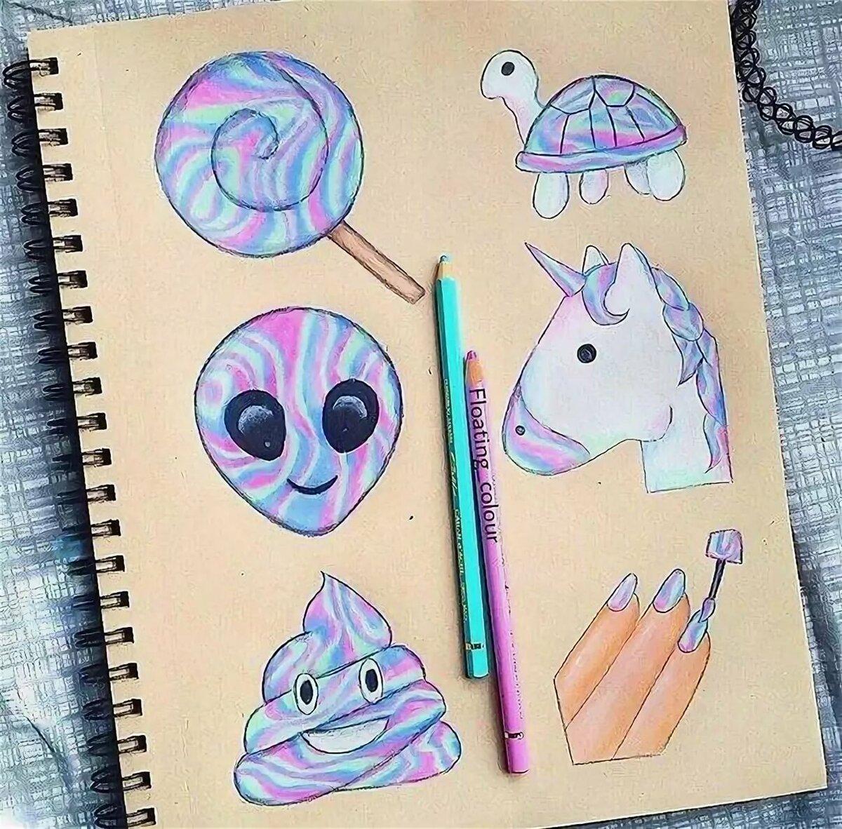 простые рисунки для личного дневника