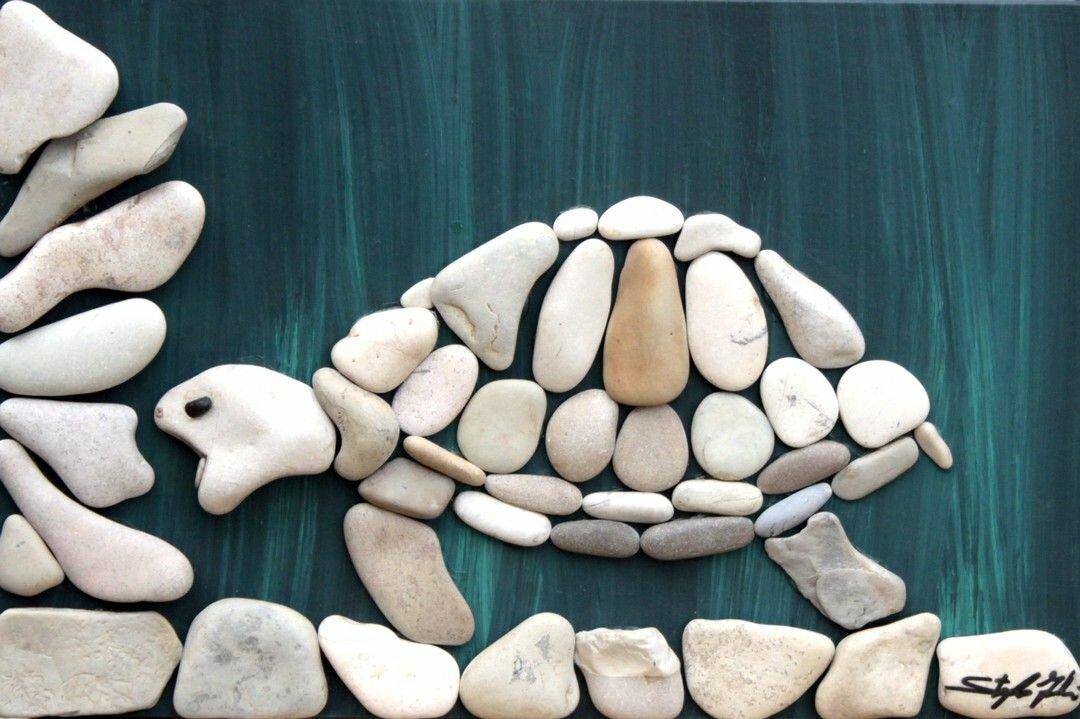 Поделка из камня в школу
