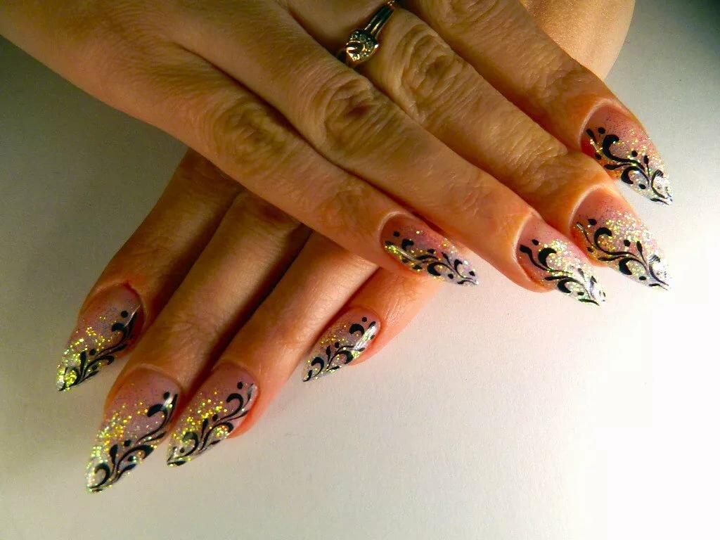 картинки с ногтями нарощенными с рисунками несколько фото