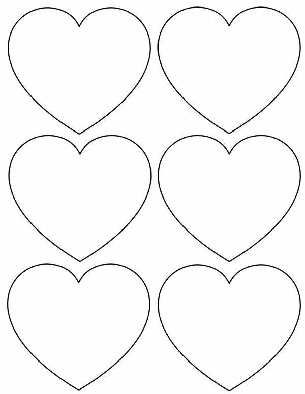 Шаблон картинку сердечко