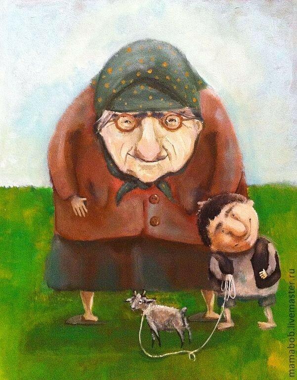 Прикольные рисунки про дедушек, новым годом