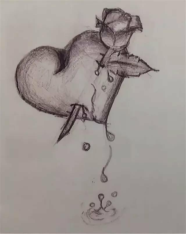 Легкие грустные картинки рисовать