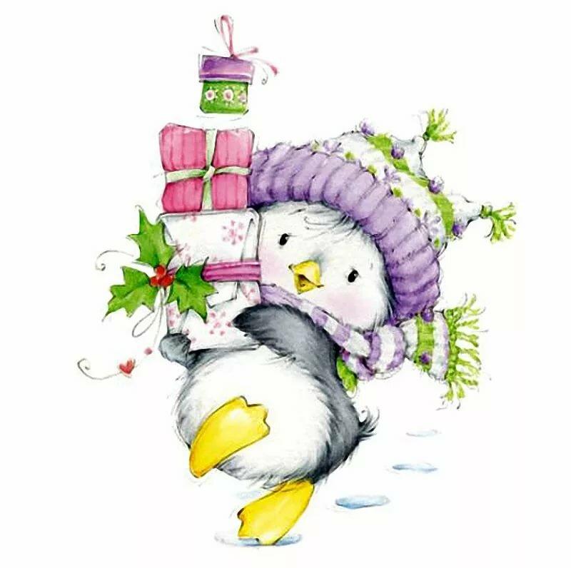 Картинки про, милые открытки к новому году