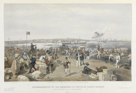 Simpson Disembarkation of the expedition to Kertch at Kamish Bournou.jpg.b48b54911bb99489cf6dcf32f1ef00c9