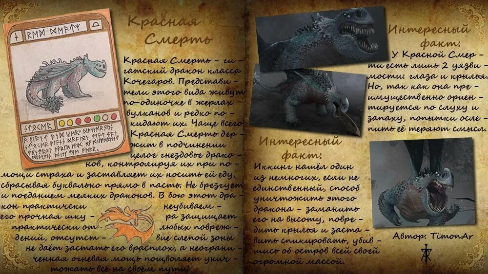 фото книги драконов из как приручить дракона лист бумаги