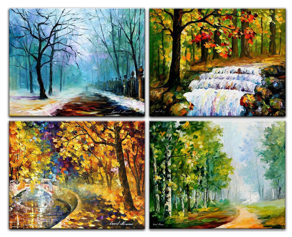Времена года в красочных картинках