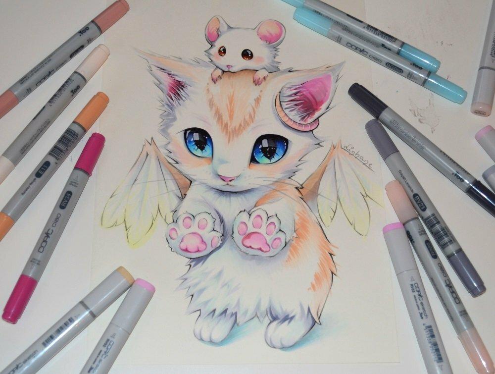 красивые и милые картинки для срисовывания цветными карандашами имели место факты