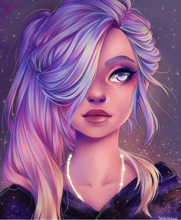 Красивые картинки на аву для девочек нарисованные