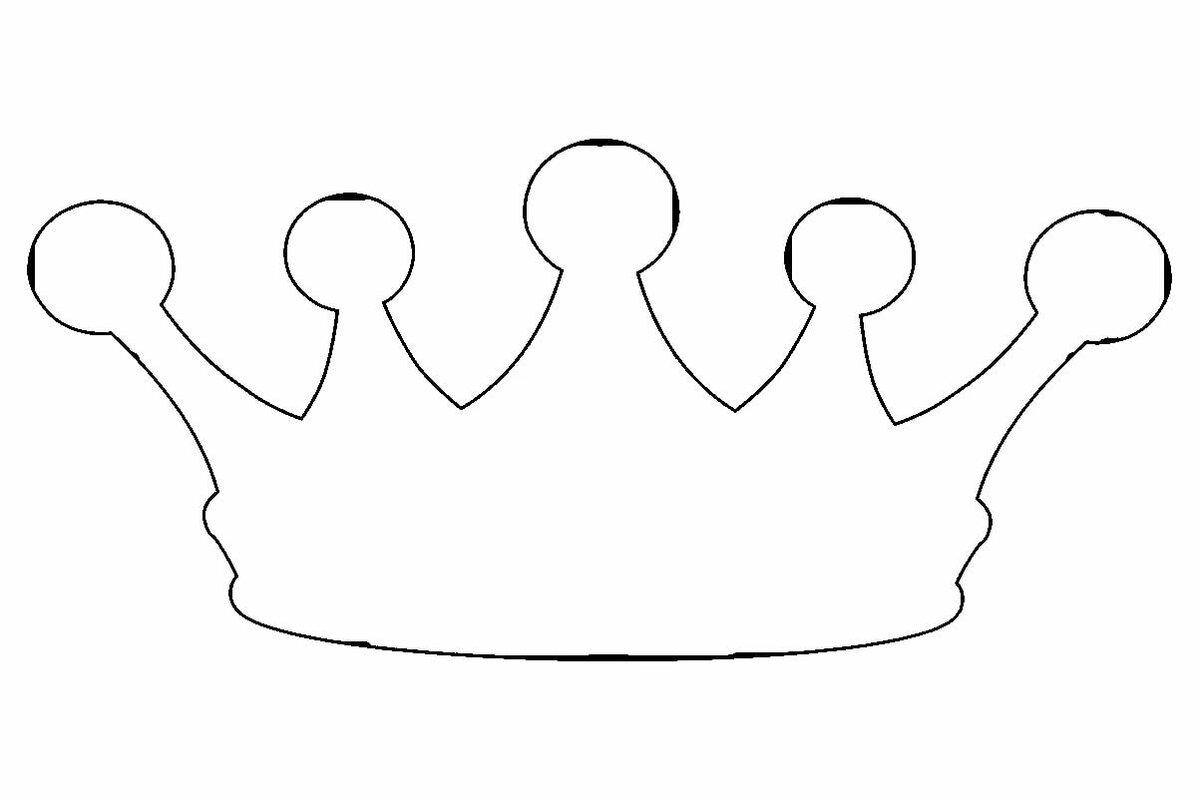 Открытка корона шаблон