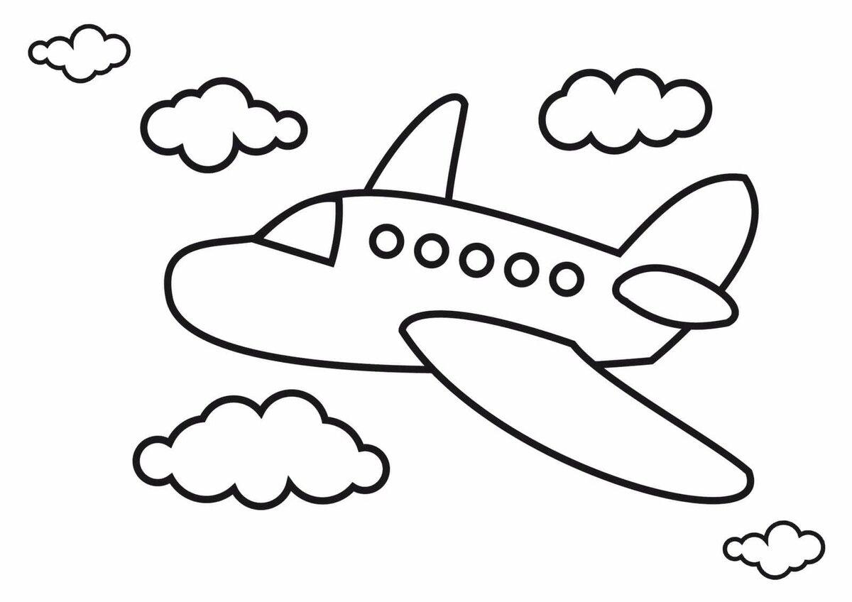 Картинки для, картинки самолета для детей раскраска