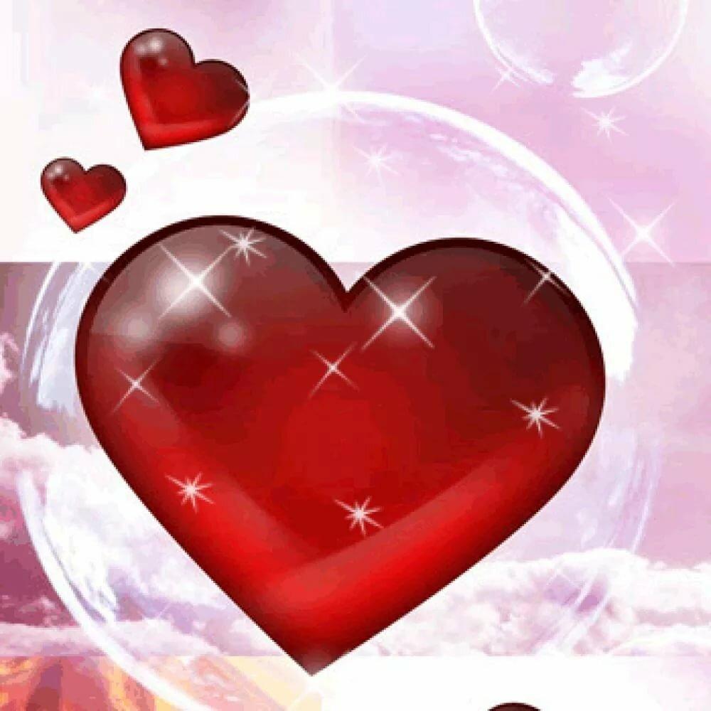 Открытки, картинки на телефон сердечки анимация красивые