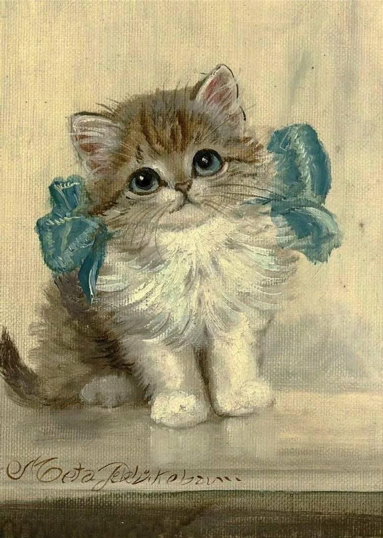 Котята на открытках