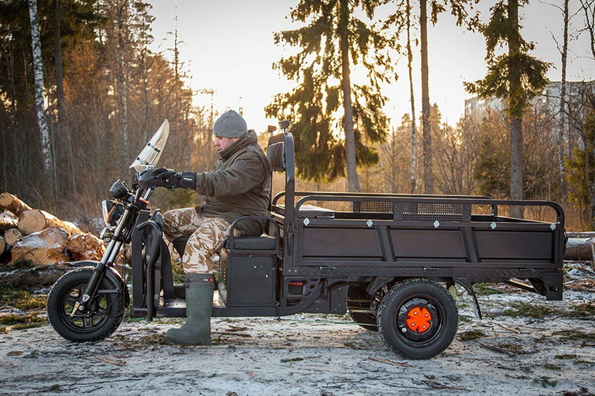 Трёхколёсный грузовой электромотоцикл Rutrike