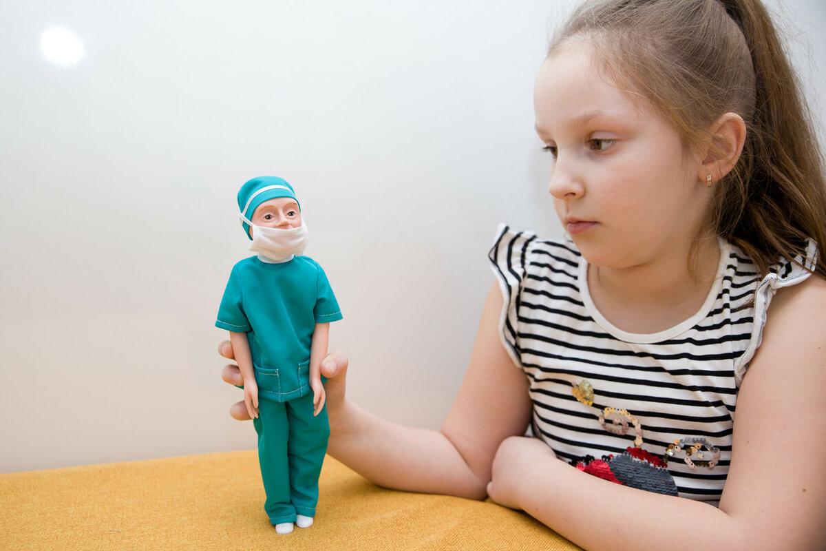 Куклы по профессиям. Кукла врач Борис.