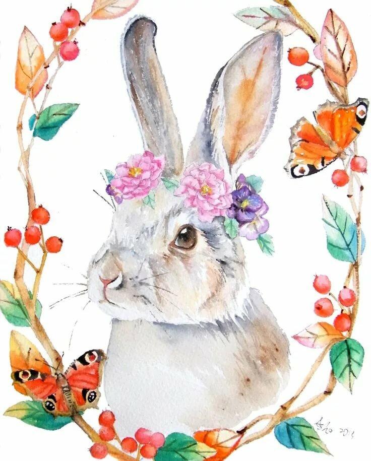 Милые открытки с кроликами, сделать