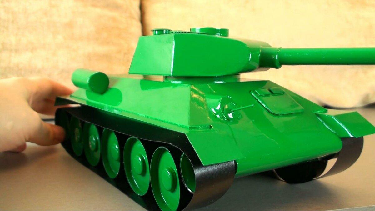 Фото танка из бумаги