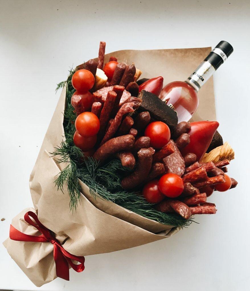 Мужские букеты из еды екатеринбург, подарки николаев букеты